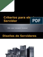 Criterios Para Elegir Un Servidor