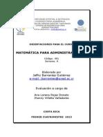 Matemacica Para Administradores I