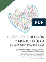 Curriculo Religion Catolica Primaria y Secundaria 2015