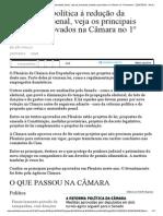 Principais Projetos Aprovados Na Câmara No 1º Semestre - Folha de S