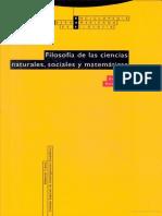 Filosofia de Las Ciencias Naturales, Matematicas y Ociales