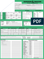 2nd Edition Style Character Record Sheet (Human Warlock)