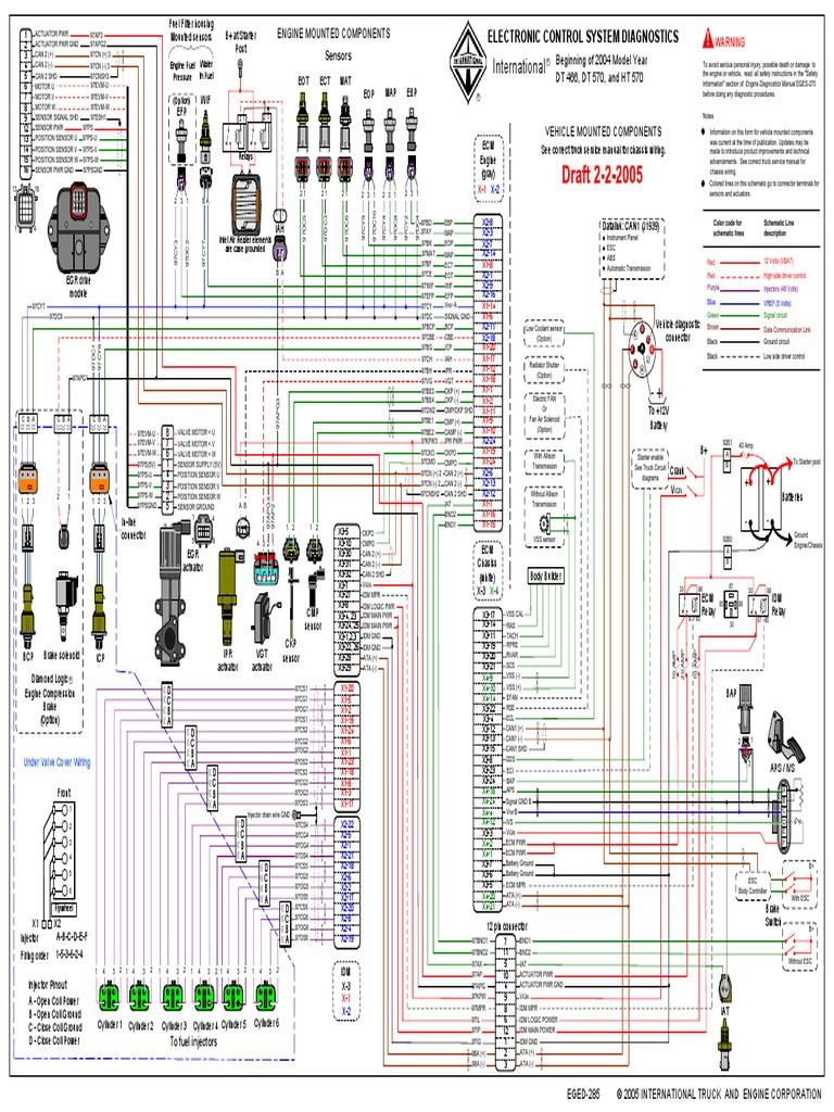[SCHEMATICS_48DE]  Diagrama Electronico NAVISTAR - INTERNATIONAL DT466 | Transportation  Engineering | Engines | International 466t Engine Coolant Diagram |  | Scribd