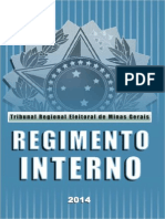 TRE MG Regimento Interno Tre Mg Edicao 2014(2)