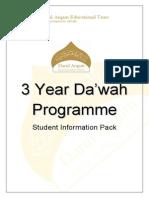 3 Year Da'Wah Programme 2011-12