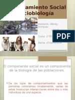 Comportamiento Social y Sociobiología Biologia 2PD