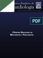 I Diretriz Brasileira de Miocardites e Pericardites - 2013
