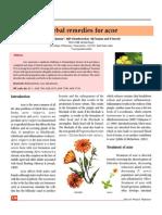 Acne herbal treatment