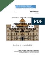 PROYECTO DE ILUMINACIÓN Y ELECTRIFICACIÓN DE UN TEATRO