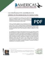 Consecuencias de La Consolidación en La Industria DeTelecom en AL