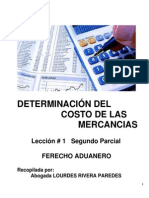 Determinacion Del Costo de Las Mercancias Leccion - 1 Segundo Parcial
