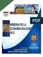 memoria anual del crecimiento ECONOMICO BOLIVIA 2013