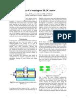 Design of a Bearingless BLDC Motor