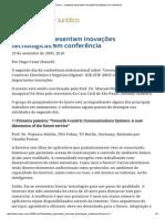 ConJur - Cientistas apresentam inovações tecnológicas em conferência.pdf