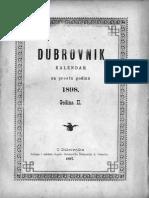 Dubrovnik Kalendar za 1898