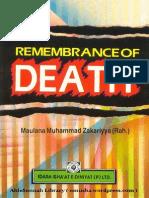 Zakariyya Remembrance of Death