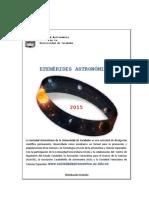 Efemerides astronómicas 2015