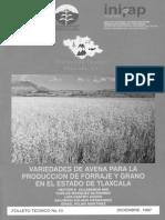 Variedades de Avena Para La Produccion de Forraje y Grano e
