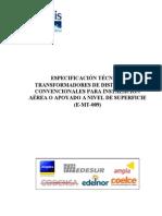 Especificaciones tecnicas de transformadores de distribucion