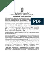 Edital Seleçao - Mestrado 2016