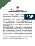Edital Seleçao - Doutorado 2016