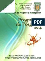 programas de posgrama 2014