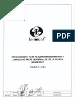 ICQ-MLA-P-125-Mo PROCEDIMIENTO PARA REALIZAR MTTO Y LIMPIEZA DE AREAS INDUSTRIALES DE LA PLANTA MTY Rev. 0.pdf