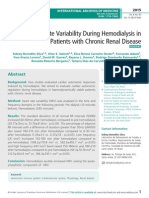 Heart Rate Variability During Hemodialysis in Patients with Chronic Renal Disease