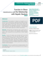 Hepatic Function in Obese Adolescents and the Relationship with Hepatic Steatosis