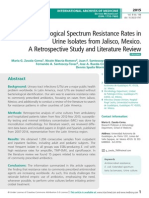 High Microbiological Spectrum Resistance Rates in Urine Isolates from Jalisco, Mexico. A Retrospective Study and Literature Review