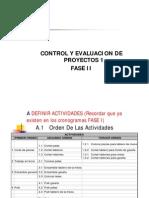 Control y Evalaucion de Proyectos 1 - Fase 2