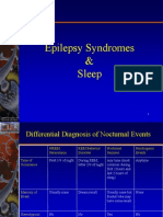 Epilepsy Syndromes and Sleep