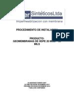 instalación de geomembrana