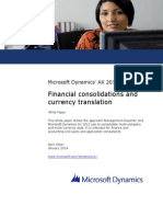 Financial Consolidations and Currency Translation
