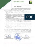 Note de Presse - 23 Juillet 2015