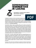 Declaración 25 Julio - Feministas en Lucha