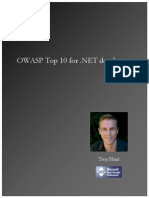OWASP Top 10 for .NET Developers