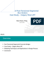 Modeling of Post-Tensioned Segmental Box Girders