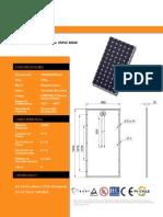 Modulo Solar Monocristalino 300 W