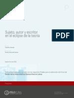 Marcelo Topuzian - Sujeto, Autor y Escritor en El Eclipse de La Teoría