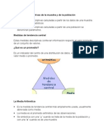 La Medidas Descriptivas de La Muestra y de La Población