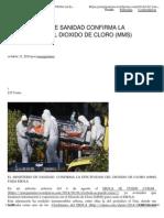 El Ministerio de Sanidad Confirma La Efectividad Del Dóixido de Cloro MMS Para El Ébola