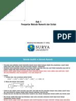 Bab 1 - Pengantar Metode Numerik Dan Scilab