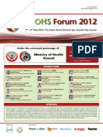 3rd OHS Forum 2012, Kuwait - Program