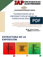 Fortalecimiento de La Identidad Cultural Desde Las Instituciones Educativas