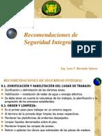 9.- Recomendaciones de Seguridad Integral