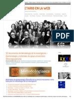 52 Documentos de Metodología de La Investigación – Epistemología y Materiales de Apoyo Universitario (Descarga Gratuita) _ Holismo Planetario en La Web