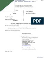 CROSS ATLANTIC CAPITAL PARTNERS, INC. v. FACEBOOK, INC. et al - Document No. 3