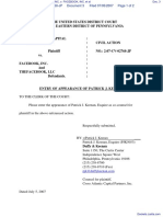 CROSS ATLANTIC CAPITAL PARTNERS, INC. v. FACEBOOK, INC. et al - Document No. 3