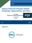 Making Advanced Analytics Simpler